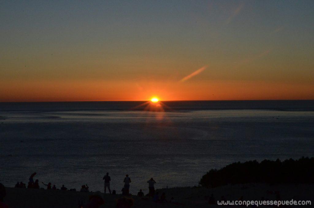 Puesta de sol desde la duna