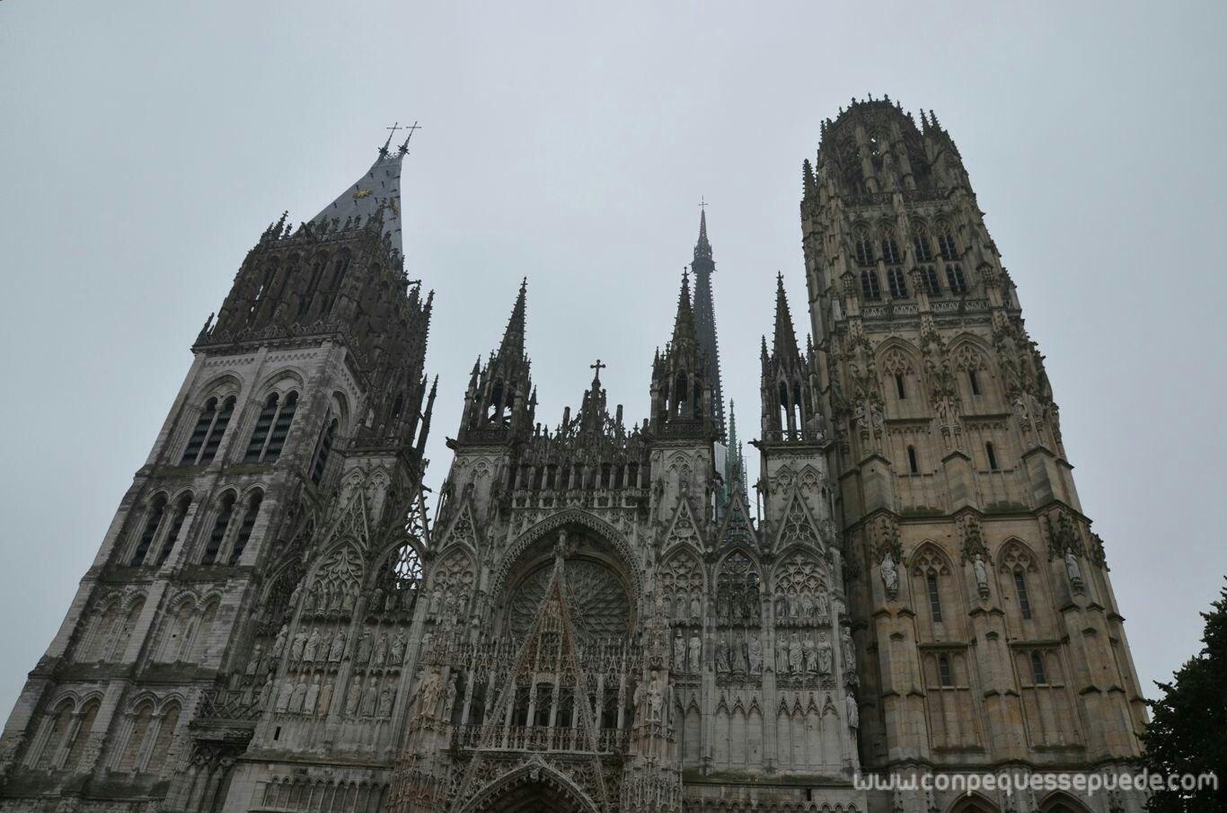 La espectacular catedral de Rouen
