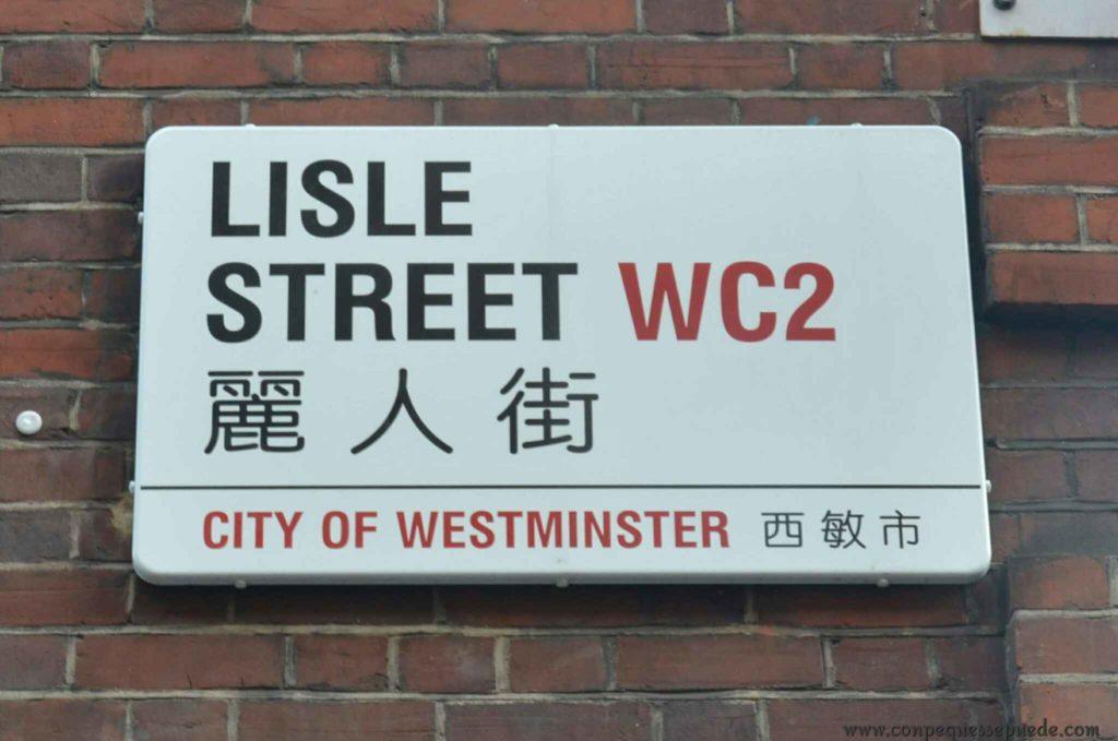 Cartell de calle de chinatown