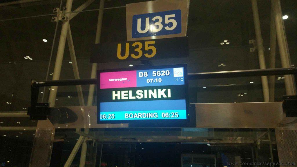 Para llegar a Laponia lo más normal es tener que hacer escala en Helsinki