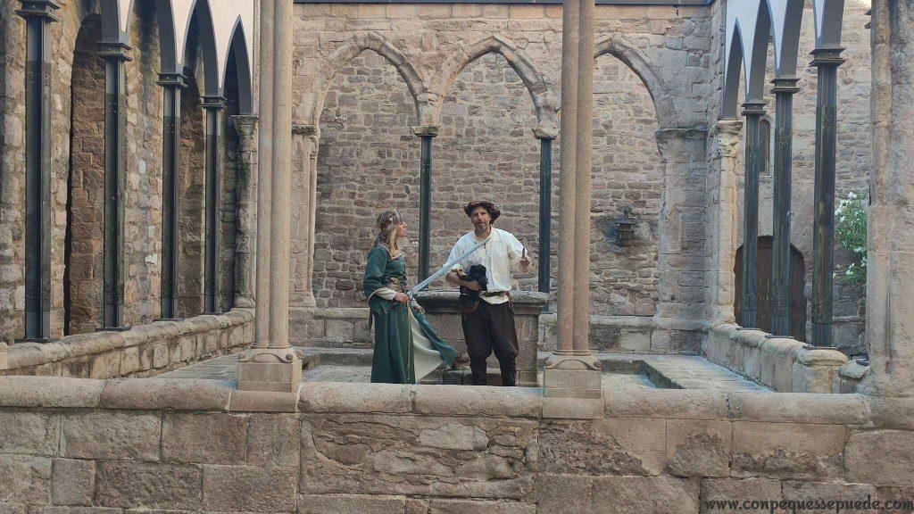 Visita teatralizada al castillo de Cardona, una de las actividades estrella de Cardona en familia