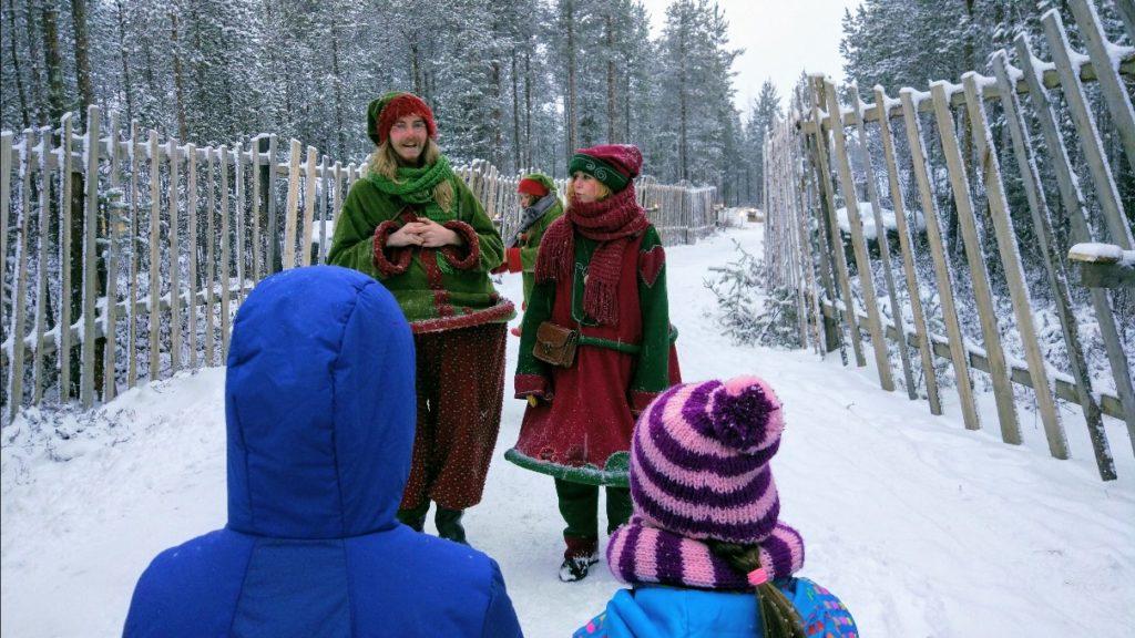 Los elfos dando la bienvenida al bosque secreto